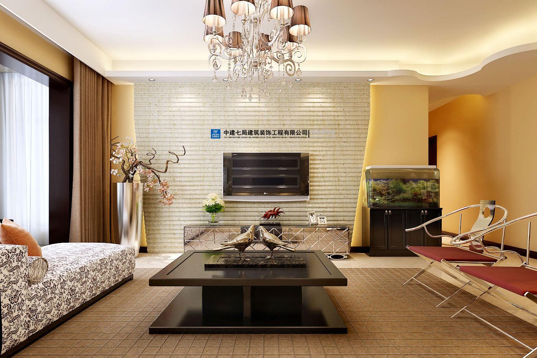 建业森林半岛三室两厅120平方混搭装修效果图