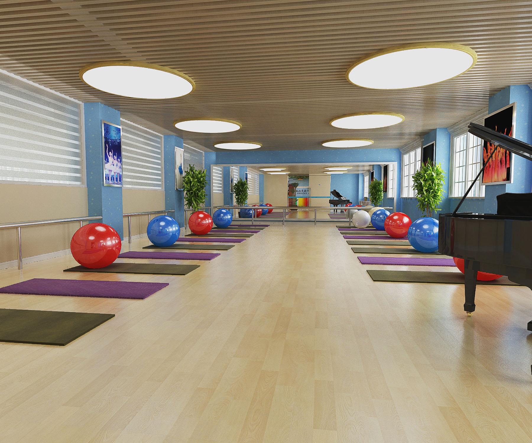 2016专业培训中心装修早教中心装修儿童舞蹈房装修